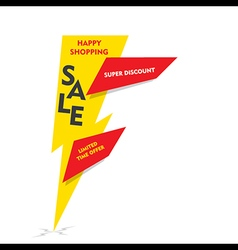 happy shopping limited time offer sale vector image