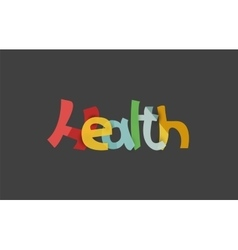 Health word drawn lettering typographic element vector image