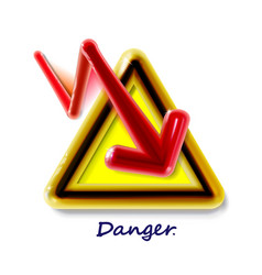 High voltage realistic 3d plastic yellow sign toy vector