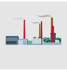 Industrial buildings plants and factories vector