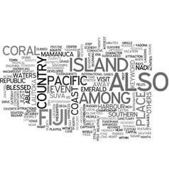 Island of fiji text background word cloud concept vector