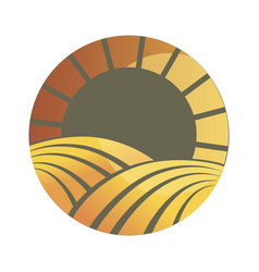 logotype of agriculture logo with a field of vector image