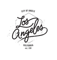los angeles typographic print vector image