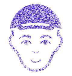 man head icon grunge watermark vector image