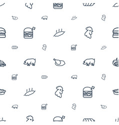 Meat icons pattern seamless white background vector