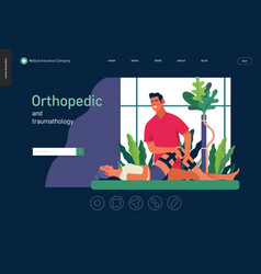 Medical insurance template - orthopedic and vector