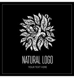 Natiral Logo 01 grunge vector image
