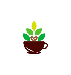 natural coffee logo icon design vector image