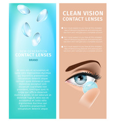 new generation clean vision vertical banners set vector image