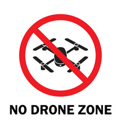 no drone zone vector image