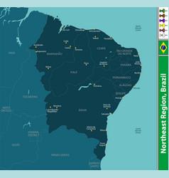Northeast region of brazil vector