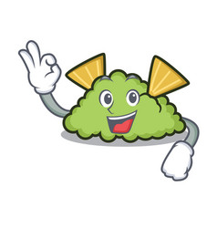 Okay guacamole character cartoon style vector