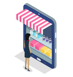 online shopping concept internet store vector image