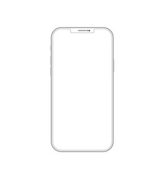 outline drawing smartphone elegant thin line vector image