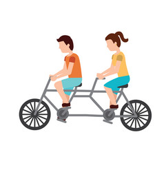 person riding bike icon image vector image