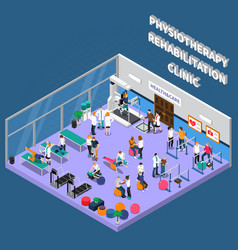 Physiotherapy rehabilitation clinic interior vector