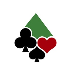 Poker Casino Logo 380x400 vector image