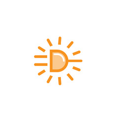 power sun plug icon logo vector image