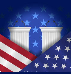 Pre-election debates background vector