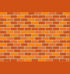 Red old brick background vector