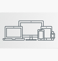 Responsive design icons for web vector