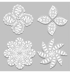 Rosette ornament vector
