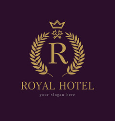 Royal key hotel logo vector