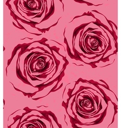 seamless background with red roses sprays drops vector image