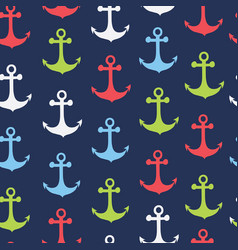 seamless pattern anchor shape vector image