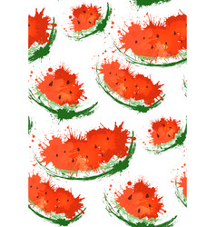 Seamless texture with slices of watermelons and vector