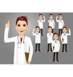 Set of medical workers or doctors vector