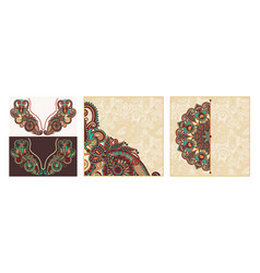 set vintage ornamental tribal ethnic template vector image