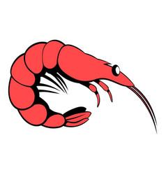 Shrimp icon cartoon vector