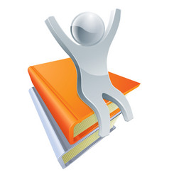 silver book person concept vector image