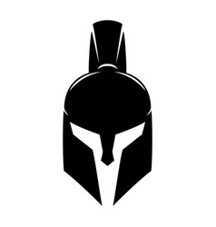 Spartan helmet sign vector