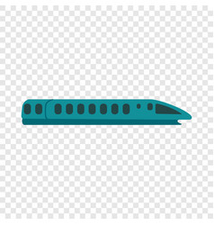 Speed train icon flat style vector
