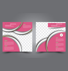 Square flyer template brochure design vector