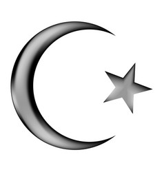 star and crescent icon sign vector image