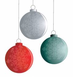 three new year balls vector image