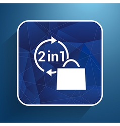 two in one product package bag icon vector image