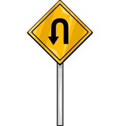 u turn sign clip art cartoon vector image