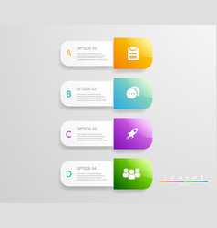 vertical infographics 4 steps for business vector image