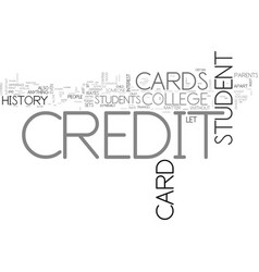 What sets a college student credit card apart vector