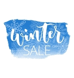 Winter sale hand written inscription vector image