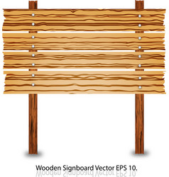 Wooden sign and signboard vector