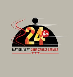 24 Hours Food Delivery Service vector image vector image