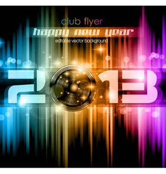 Colorful 2013 New Year Celebration Background vector image vector image