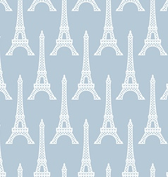 Eiffel Tower seamless pattern French background vector image