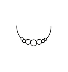 necklace icon vector image