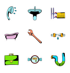 sanitary icons set cartoon style vector image vector image